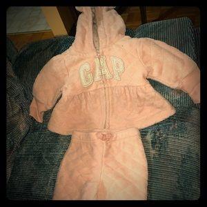 Super safe baby pink gap track suit 0-3 months